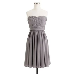 J. crew gray bridesmaid dress